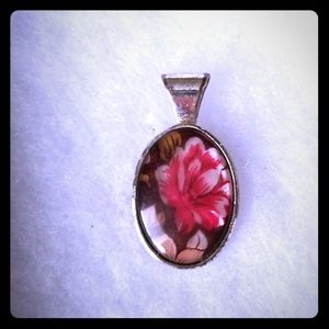 Flower necklace charm
